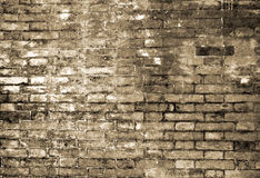 Brick wall. Italy. Fragment of the old brick wall in Bologna Stock Photo