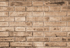 Brick wall. Italy. Fragment of the old brick wall in Bologna Stock Photography