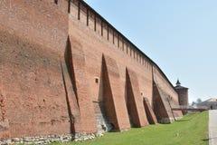 Brick wall of the Kolomna Kremlin royalty free stock photos