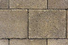 Brick wall with large bricks. Stock Image