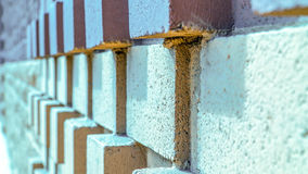 Brick Wall. Large Brick Wall. Composed of largef Red and Yellow bricks/stones Royalty Free Stock Images