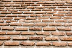 Brick wall with a large layer of mortar. As a background Royalty Free Stock Photos