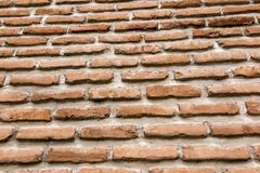 Brick wall with a large layer of mortar. As a background Stock Image