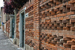 Brick Wall in Lido, Venice Royalty Free Stock Images