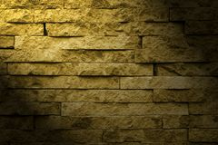 Brick wall and light Royalty Free Stock Photo