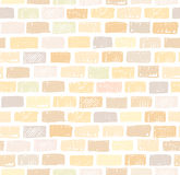 Brick wall light seamless pattern drawing Royalty Free Stock Photos