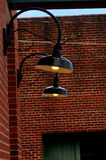 Brick Wall Lighting Royalty Free Stock Images