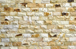 Brick wall with the lime stone design Royalty Free Stock Photo