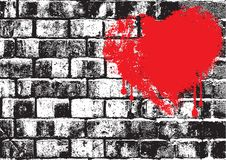 Brick wall love Royalty Free Stock Image