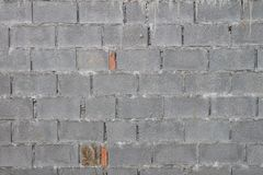 A brick wall made with Autoclaved Aerated Concrete Masonry Unit old textured construction work.  Stock Photos