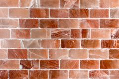 Brick wall made out of salt Stock Photos