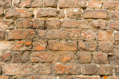 Brick wall made of red stone Stock Photography