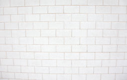 Brick wall made of white or grey. A white or grey brick and mortal texture Stock Photo