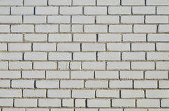 Brick wall made of white silicate brick Royalty Free Stock Photography