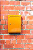 Brick wall with mailbox Royalty Free Stock Images