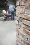 Brick Wall and Mason Stock Photography
