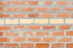 Brick wall. Masonry house manual red brick Stock Photos