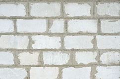 Brick wall. Masonry house manual of white brick Royalty Free Stock Photography