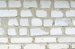 Brick wall. Masonry house manual of white brick Stock Photography
