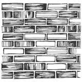 Brick wall and masonry royalty free illustration
