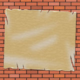 Brick Wall Means Empty Space And Backdrop Stock Images