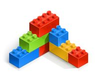 Brick wall meccano toy Royalty Free Stock Photography