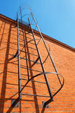 Brick wall with metal ladder Royalty Free Stock Image