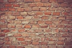 Brick Wall with Mortar Stock Images
