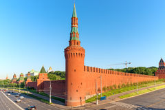 Brick wall of Moscow Kremlin Royalty Free Stock Images