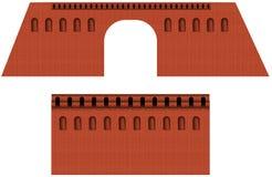 Brick wall of moscow kremlin Stock Photos