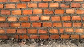 Brick wall, new build Royalty Free Stock Image