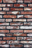 A brick wall newly fitted with concrete seam. Stock Photos