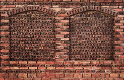 Brick wall with niches Royalty Free Stock Image