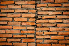 Brick wall not finish. On background Royalty Free Stock Photos