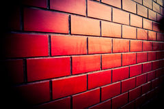 Brick Wall Of Red Dark Stock Images