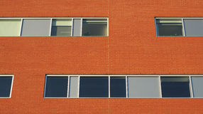 Brick wall office building horizontal windows business facade Royalty Free Stock Photography
