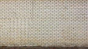 Brick wall. Old wall of bricks. Downstairs walls of old dirty bricks Stock Photography