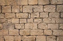 Brick Wall. Old Brown Brick Wall Gorizontal Royalty Free Stock Photos