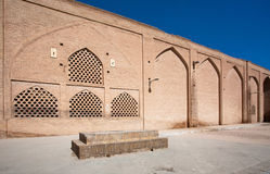 Brick wall of an old building in the Iranian city Stock Image