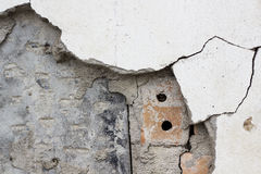 Brick wall of old Crack cement Royalty Free Stock Photos