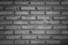 Brick Wall. Old and Dirty Brick Wall in Black&White Royalty Free Stock Photos