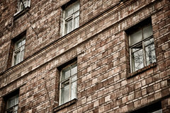 Brick wall. The wall of the old house in rainy weather causes grief and despondency Royalty Free Stock Photos