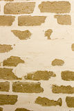 Brick wall with old painting Royalty Free Stock Photography