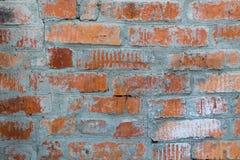 Brick wall. Wall of old red bricks Stock Photo