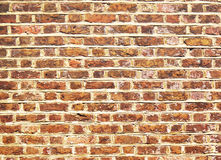 Brick and wall. Old red-brown brick wall for background usage Stock Image