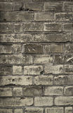 Brick wall. Old brick wall with textures Royalty Free Stock Photo