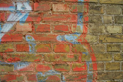 Brick wall. Old brick wall with textures Royalty Free Stock Image