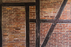 Brick Wall old. Timber Framed Stock Photos