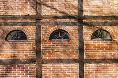 Brick Wall old. Timber Framed Royalty Free Stock Images