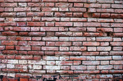 Brick wall. Old brick weathered wall backgrounds stock images